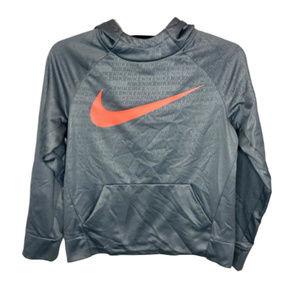 Nike Boy's Gray Dri-Fit Hoodie - YL